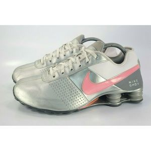 Nike Shox Running Training Shoe Silver